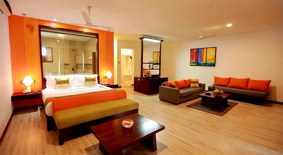 Interior of Ocean Privilege rooms at CoCoBay Unawatuna