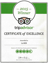 CoCobay trip advisor certificate of excellence- 2015