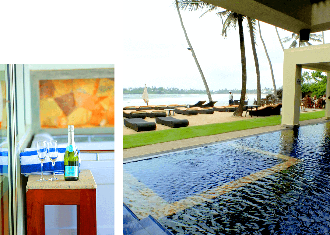 Indoor swimming pool & drinks offered by CoCobay Unawatuna Hotel